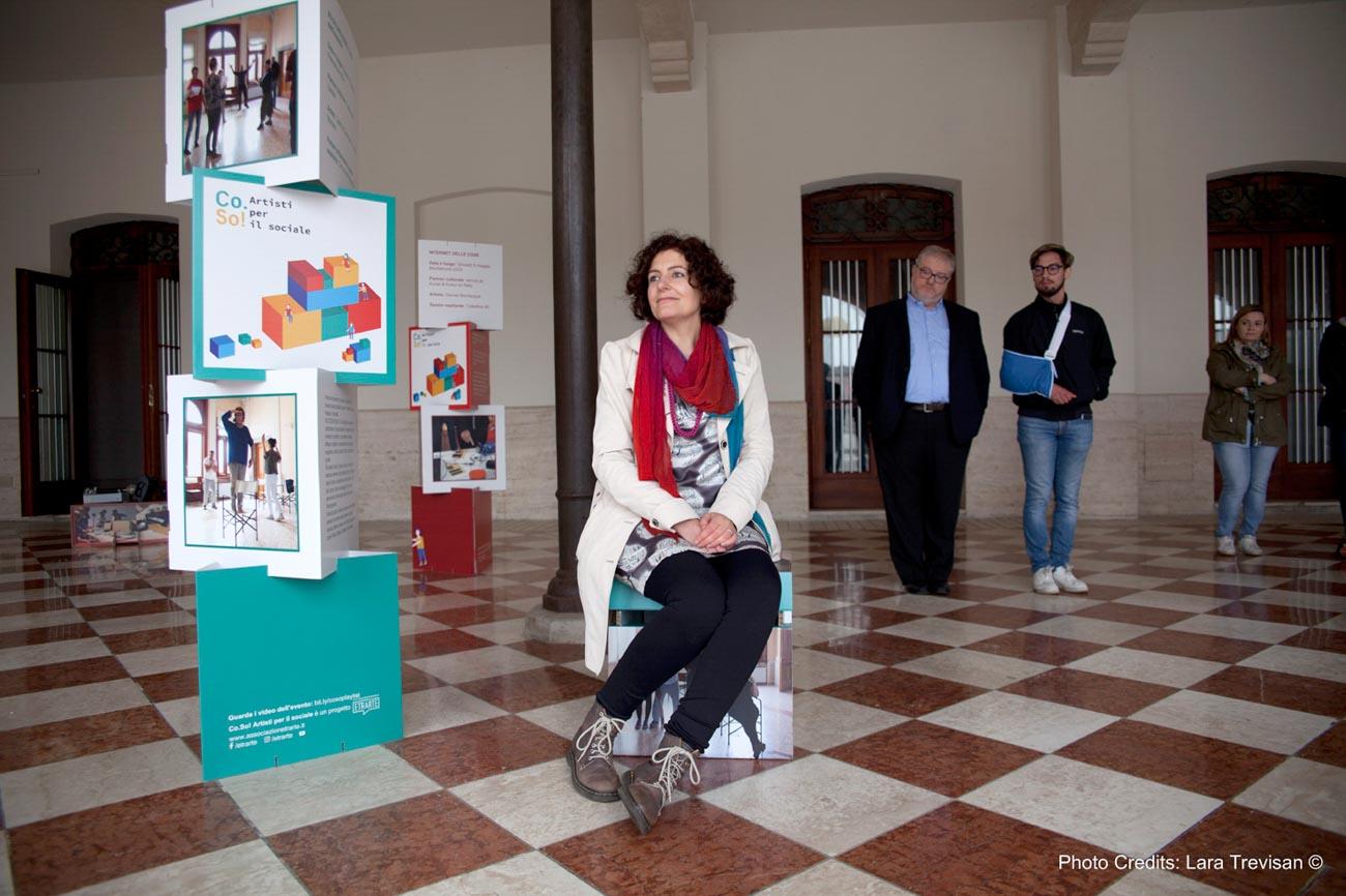 Co.So. Artisti per il sociale, Elena Tammaro all'inaugurazione mostra a Palmanova della prima edizione