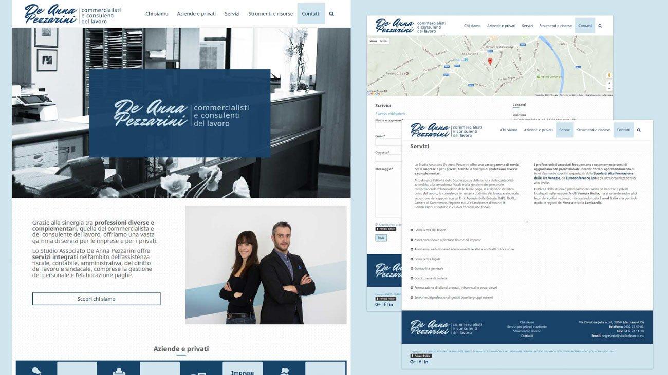 Sito internet per Studio De Anna Pezzarini - commercialisti e consulenti del lavoro