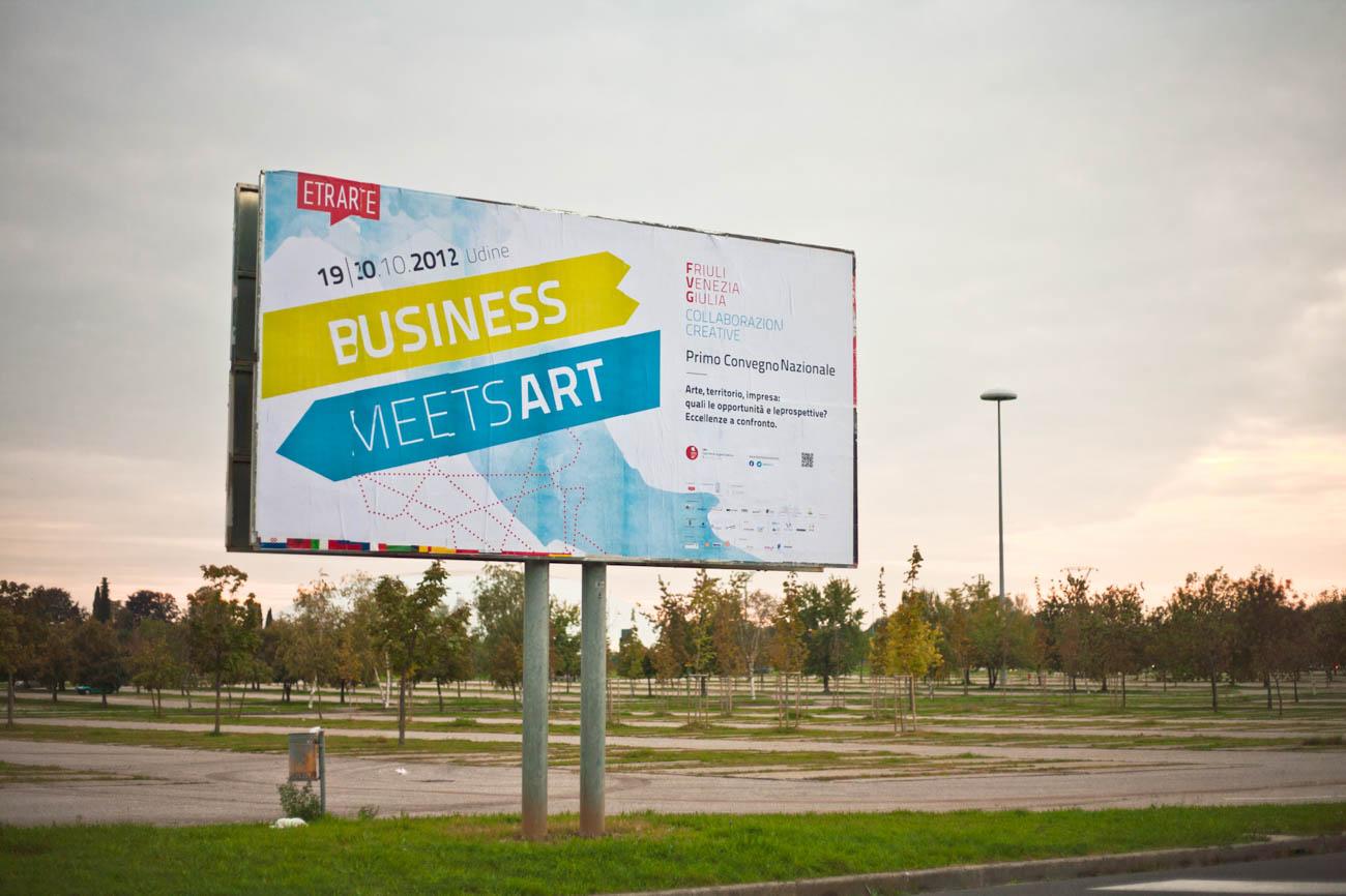 Business Meets Art - Convegno internazionale dedicato ai temi di arte e impresa in Europa - Manifesto promozionale della prima edizione